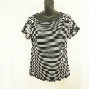 Lauren Ralph Lauren Striped Shirt Size Large